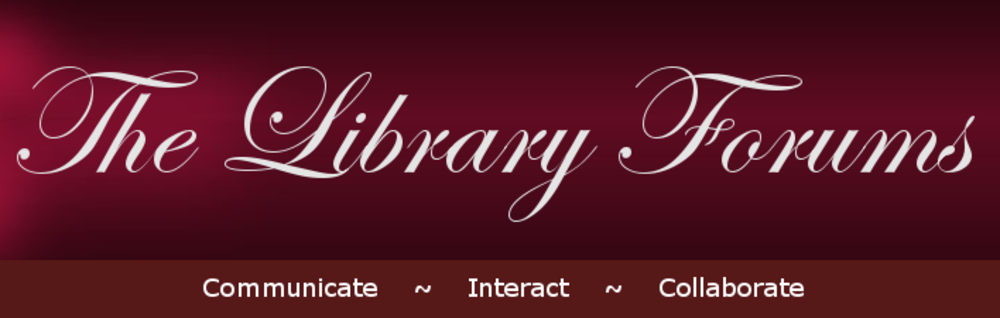 The Library Forums logo and link - The Library Forums logo and link