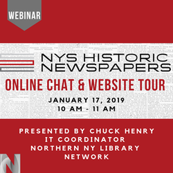 NYS Historic Newspapers Online Chat & Website Tour 6062
